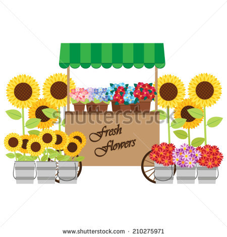 Flower Stand Stock Photos, Royalty.