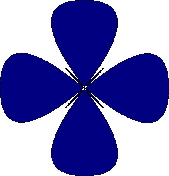 Blue Rounded Star Flower Design Clip Art at Clker.com.