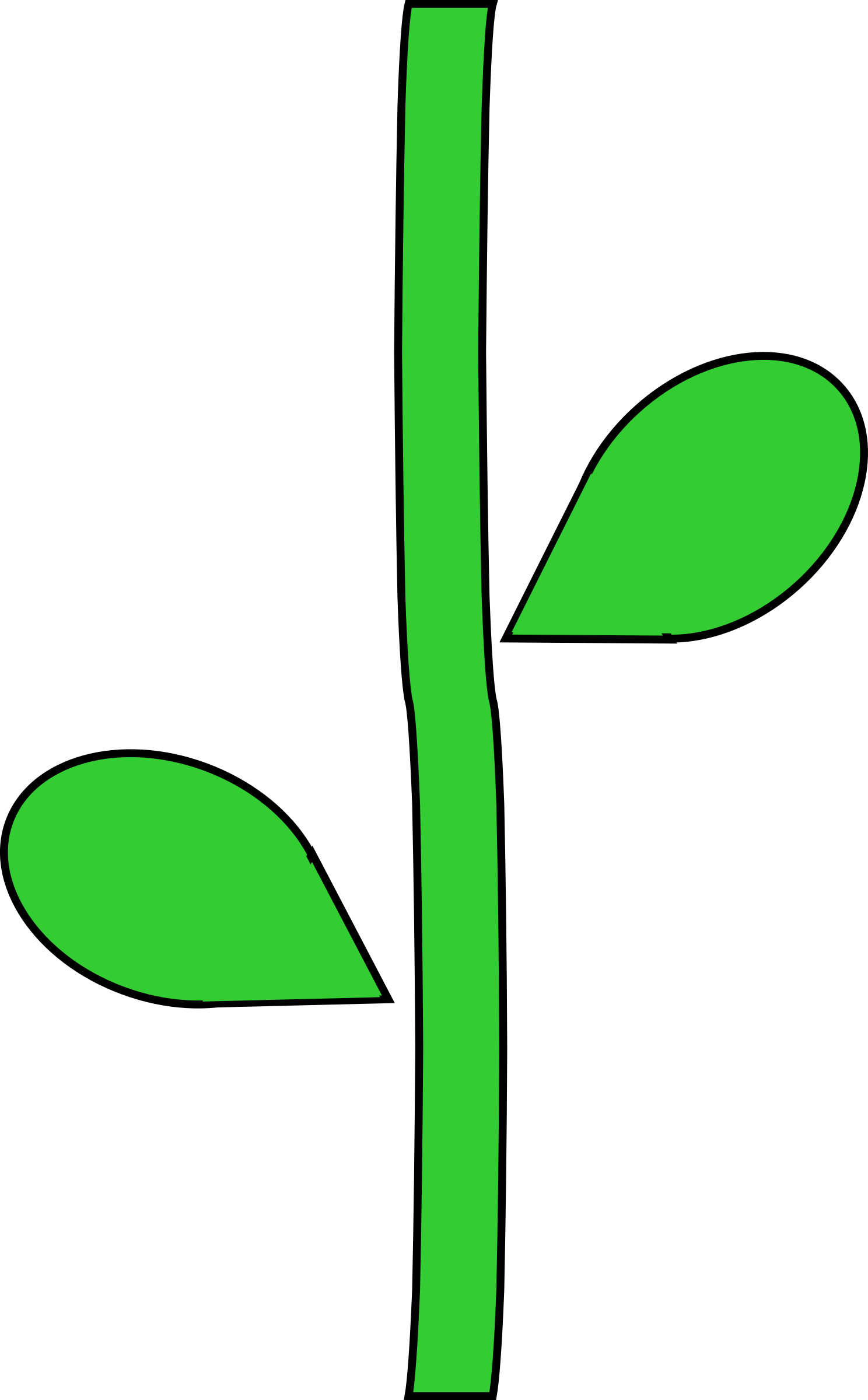 Flower Stem by @barnheartowl, A green flower stem, on @openclipart.