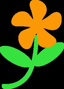 Flower Stem And Leaf Clipart.
