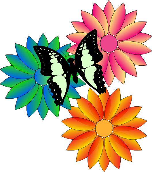 Clipart summer flowers.
