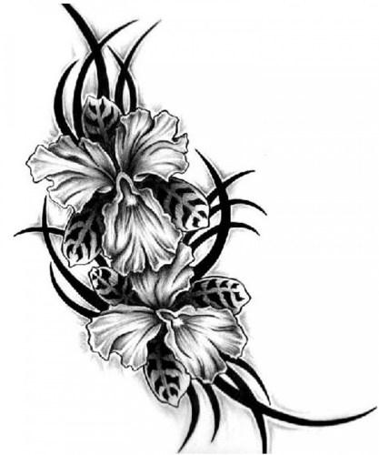 Free Tribal Flower Tattoo Designs, Download Free Clip Art, Free Clip ...