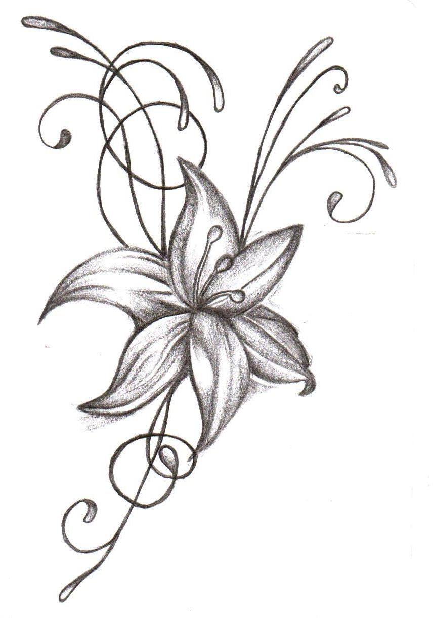 Free Pictures Of Flower Tattoo Designs, Download Free Clip.