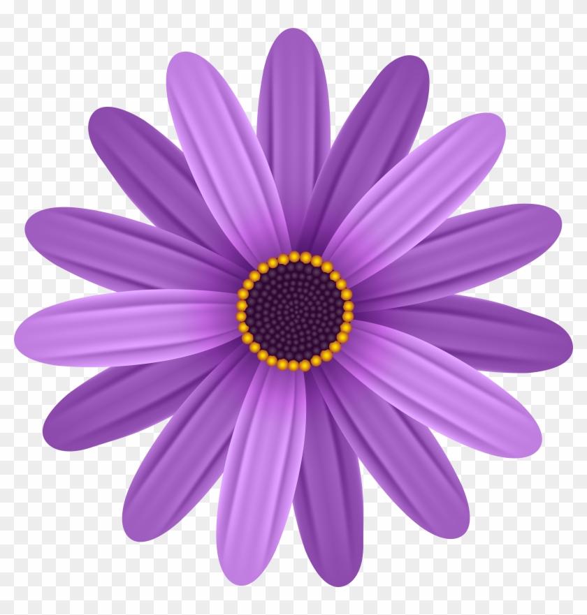 Purple Flower Transparent Png Clip Art Image, Png Download.