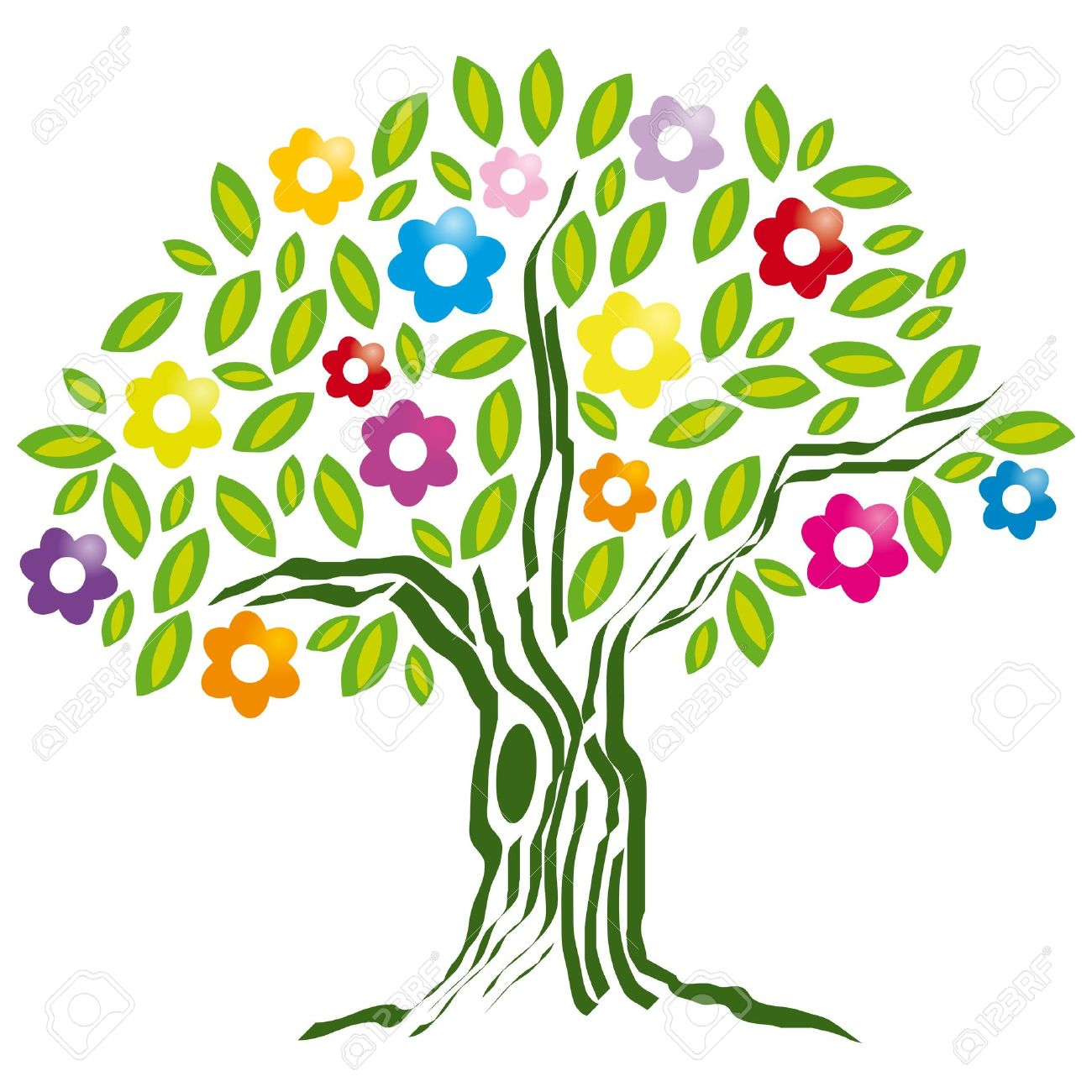 Clipart flower tree.