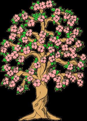 Flower tree clipart #12