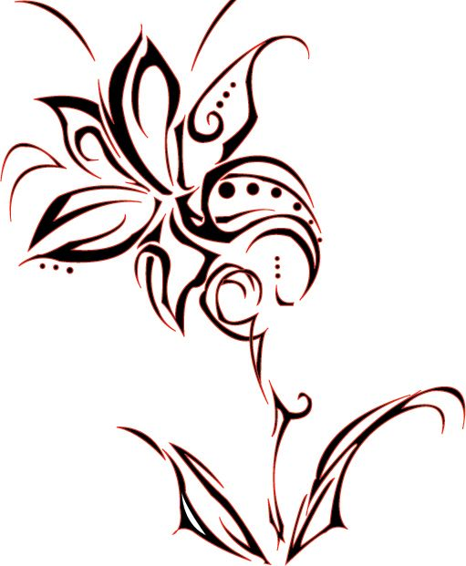tribal tattoos with flowers.