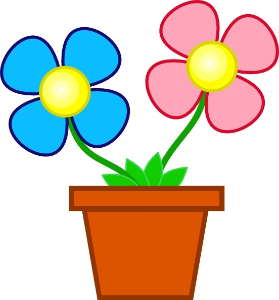 Flowers In A Vase clip art Free vector in Open office drawing svg.