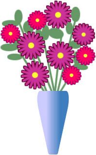 Flower in a vase clipart.