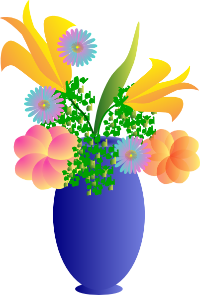 Vase Of Flowers Clip Art Vector Clip Art Online Royalty Free.