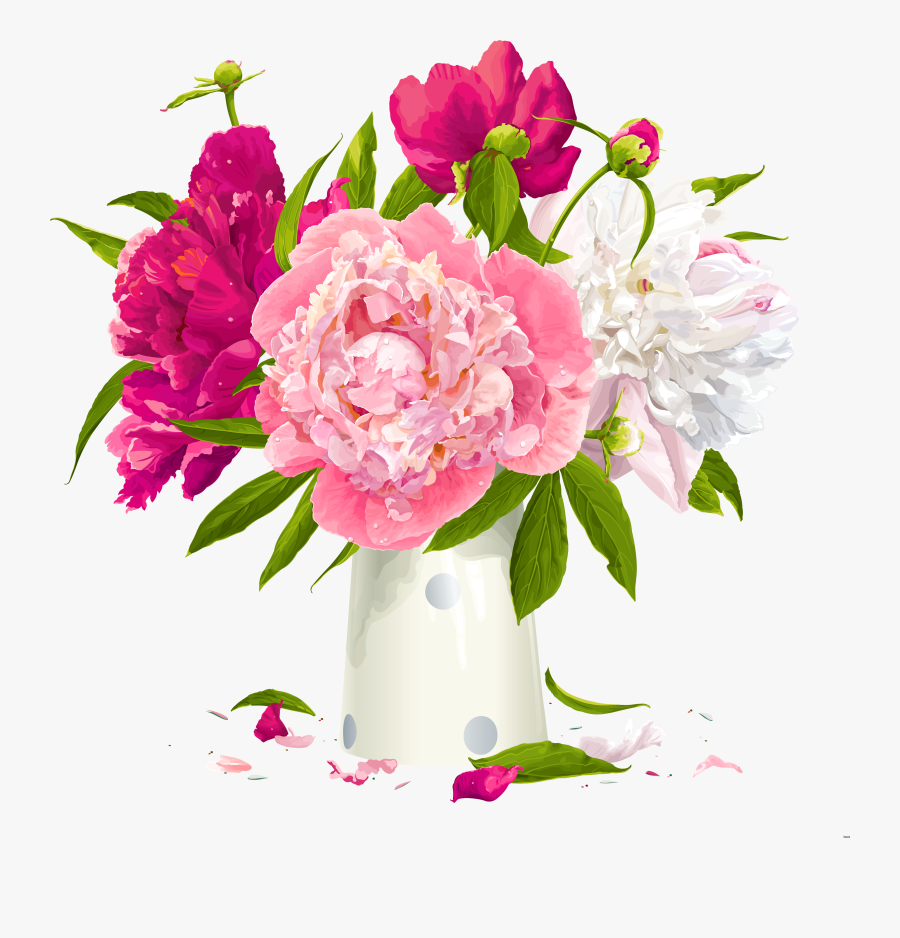 Flower Vases With Flowers Clipart Group.