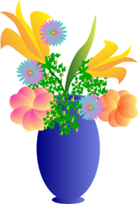 A Vase Of Flowers Clip Art at Clker.com.