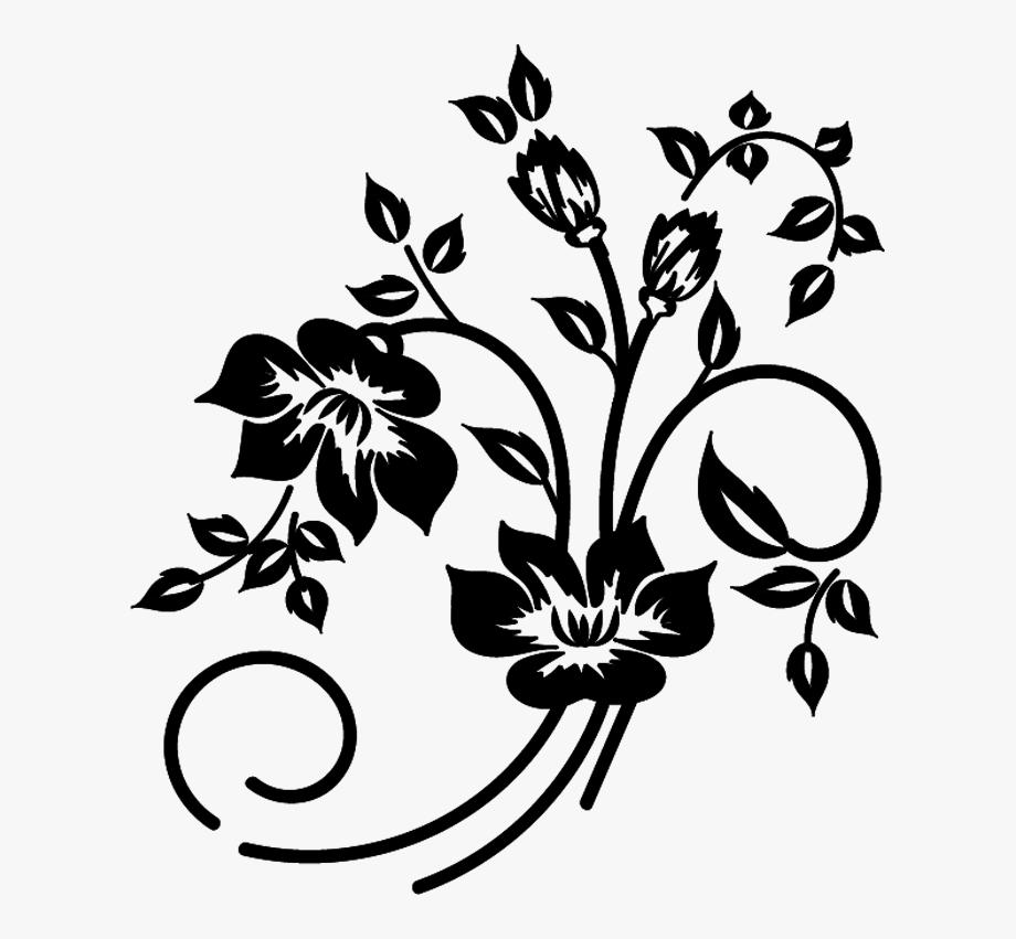 Flower Vector Black And White.