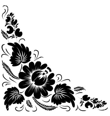 17 Free Black Vector Flowers Images.