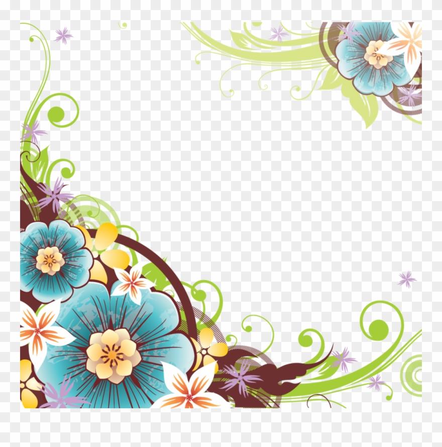 Flower Corner Png Clipart.