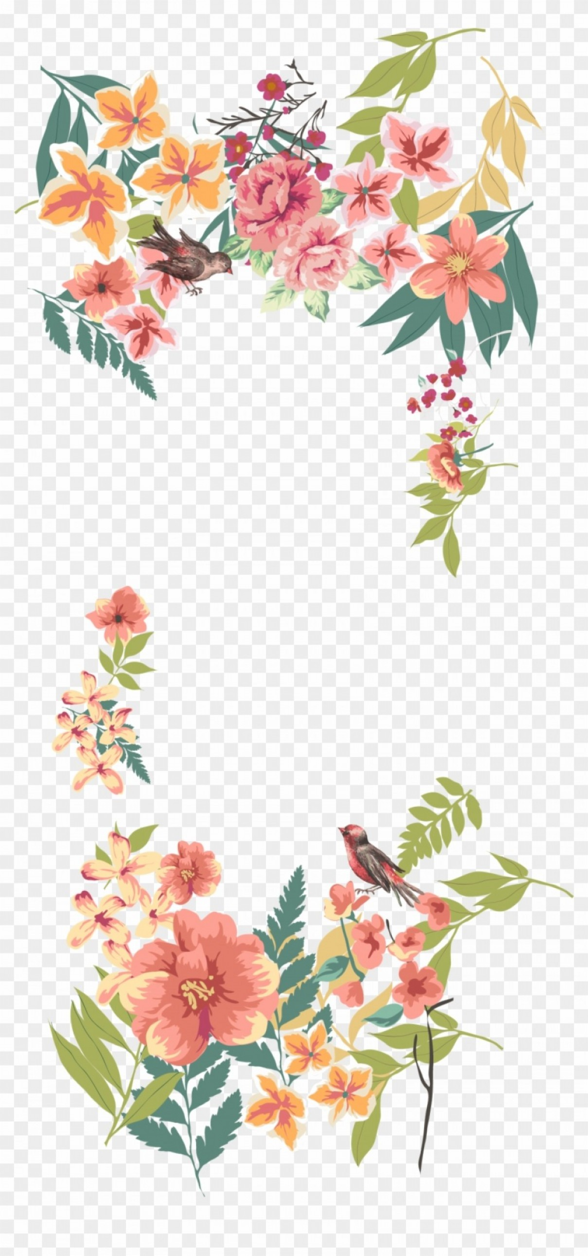Mighhikbflower Euclidean Vector Floral Design Flowers Border Png.