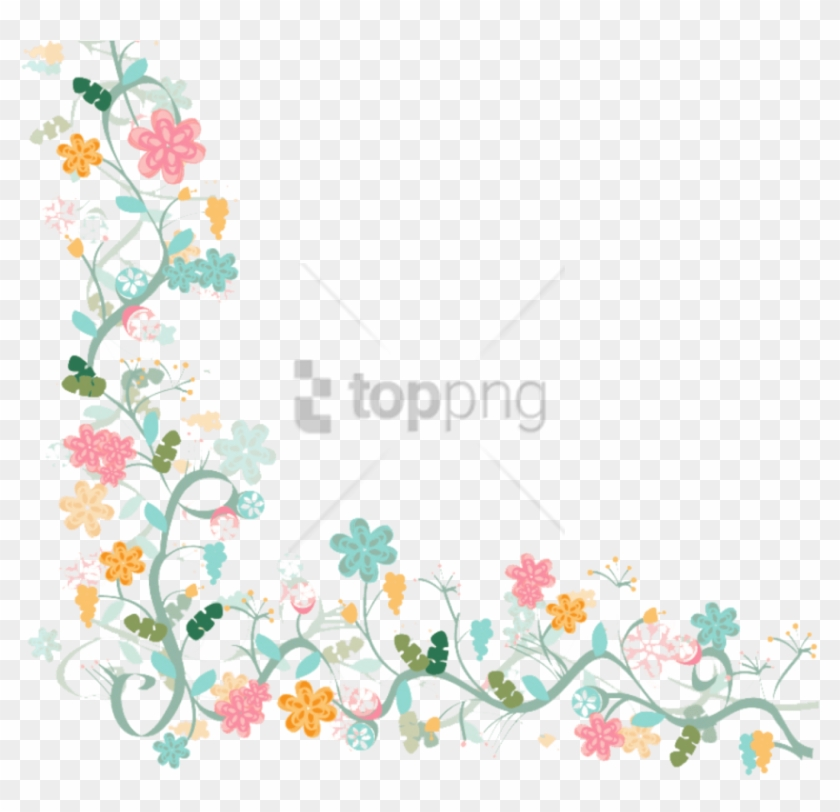 Free Png Watercolor Flower Vector Border Png Image.