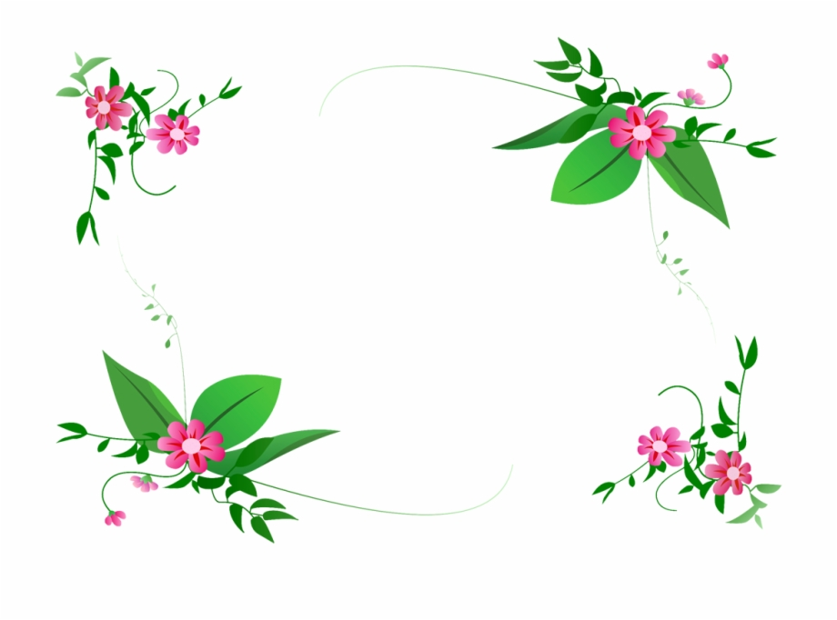 Flower Border Vector Png.