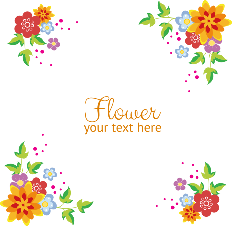 Download Free png Flowers Vector Border Free Clipart HD.