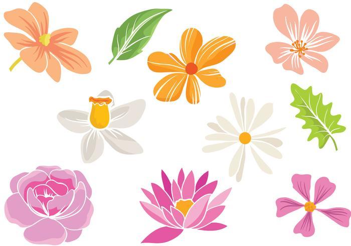 Free Simple Flowers Vectors.