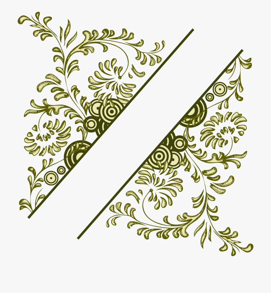 Flower Vintage Frame Illustration Vector Design Floral.