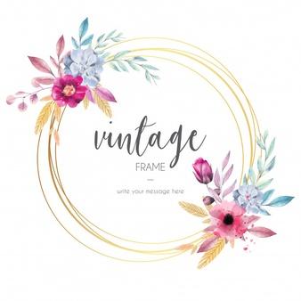Flower Wreath Vectors, Photos and PSD files.