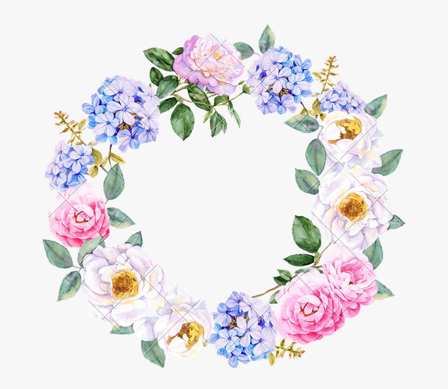 15 Watercolor Flower Wreath Png For Free Download On.