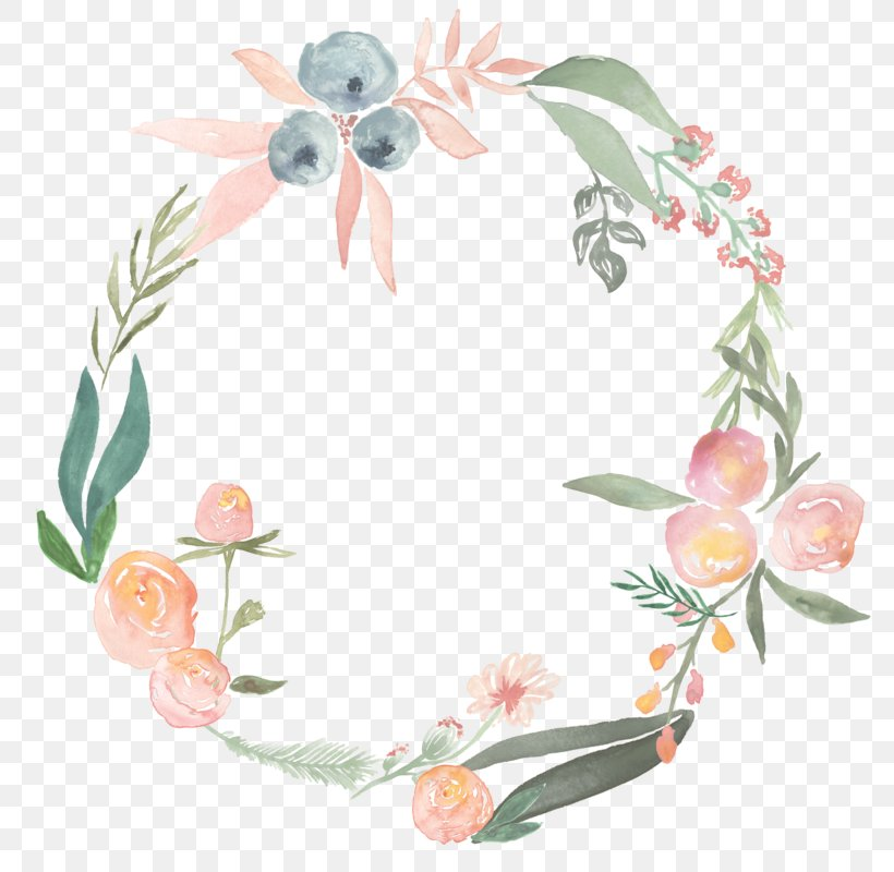 Watercolor Painting Flower Wreath Photography Clip Art, PNG.