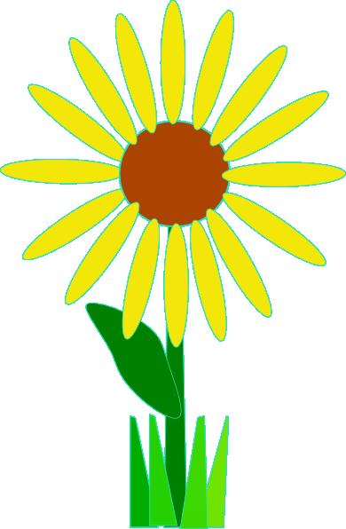 Simple Yellow Flower Clip Art at Clker.com.