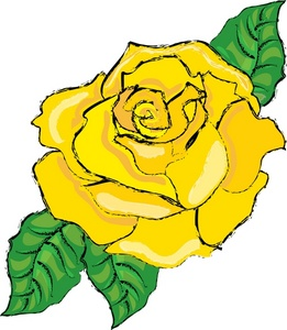 Clipart flower rose yellow.