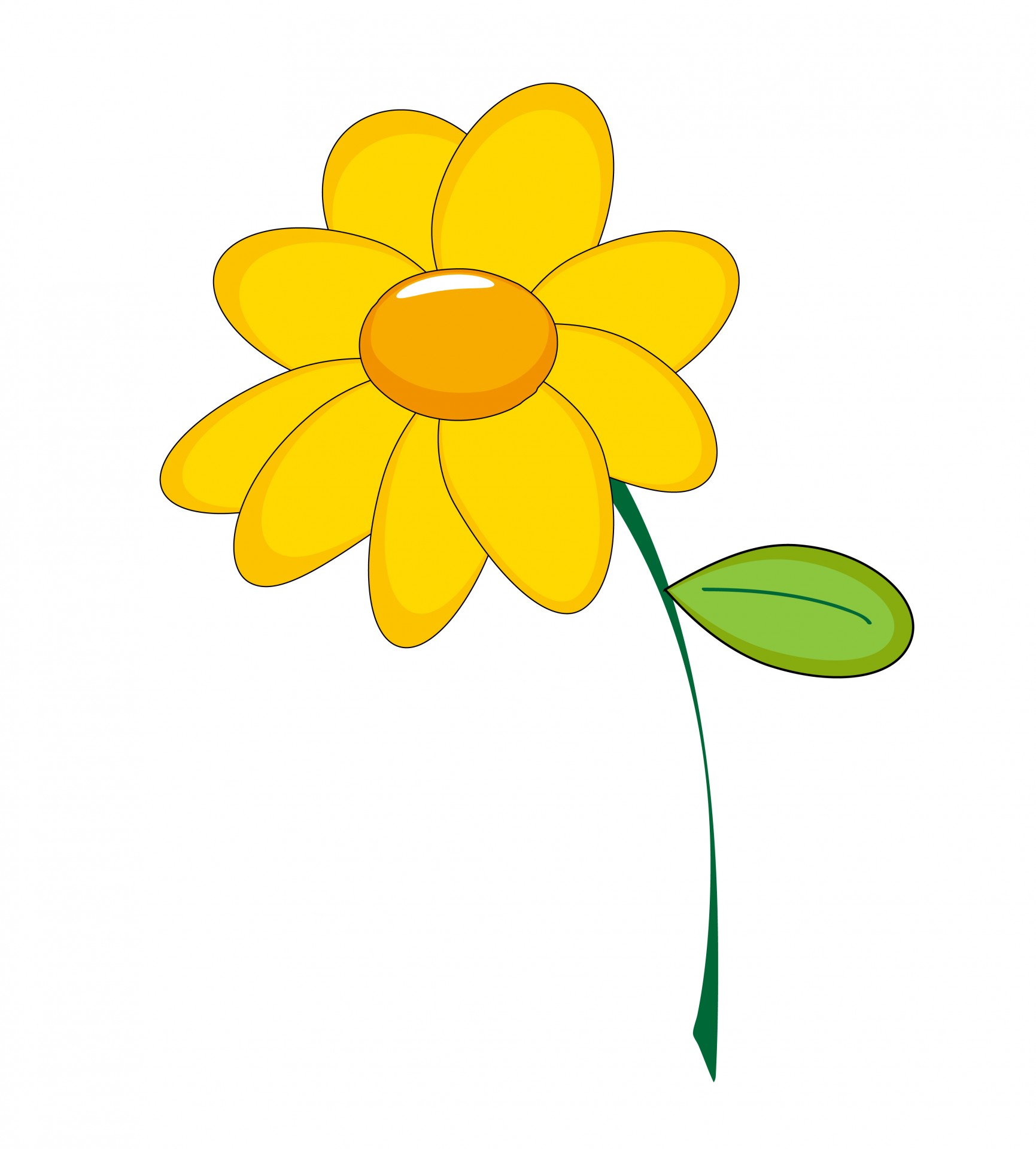 Yellow Flower Clipart Free Stock Photo.