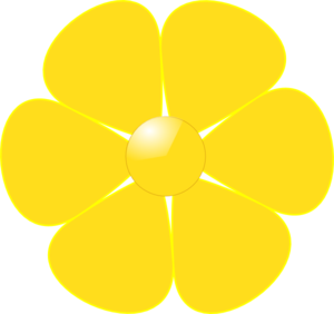 Yellow Flower Clipart.