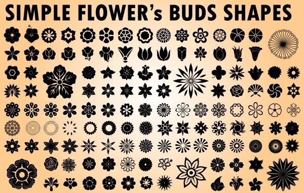 Flower Bud Pack Clipart.