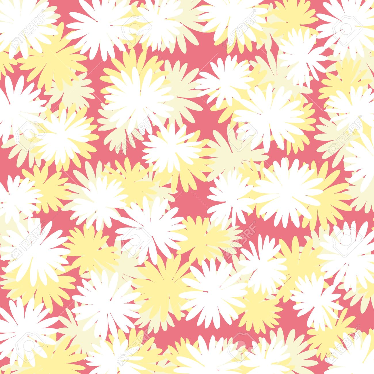 Flowered Background Stock Photo, Picture And Royalty Free Image.