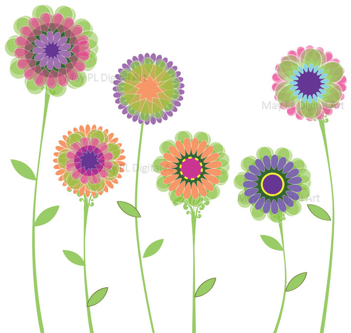 Green flowered clipart.