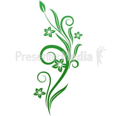Green flowered clipart.