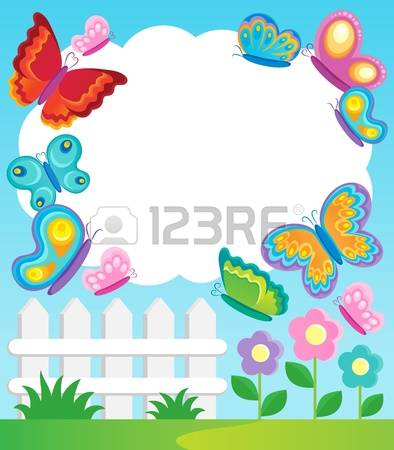 Floral Flower Fly Frame Stock Photos & Pictures. Royalty Free.