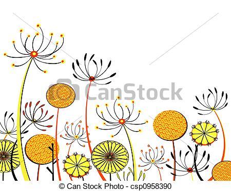 Stock Illustration of Flowerheads.
