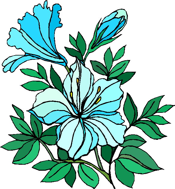 Free plants and flowers clip art.