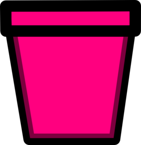Pink flower pot clipart.