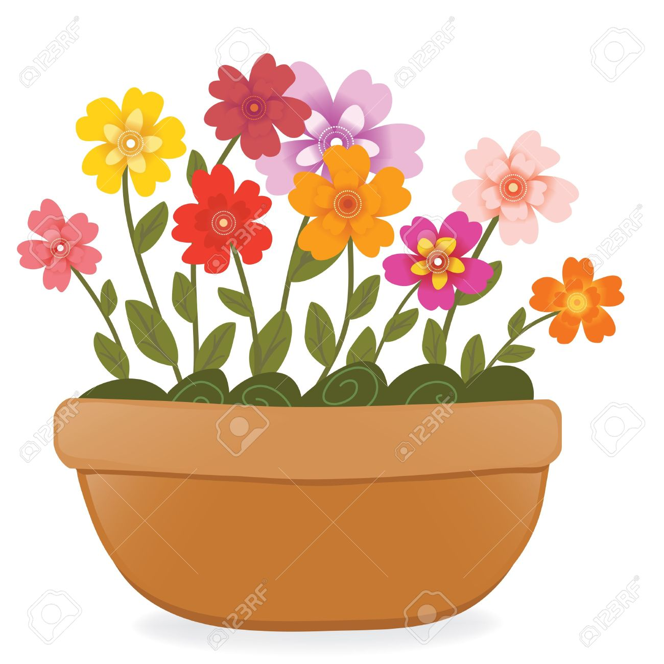 4,299 Potted Plant Cliparts, Stock Vector And Royalty Free Potted.
