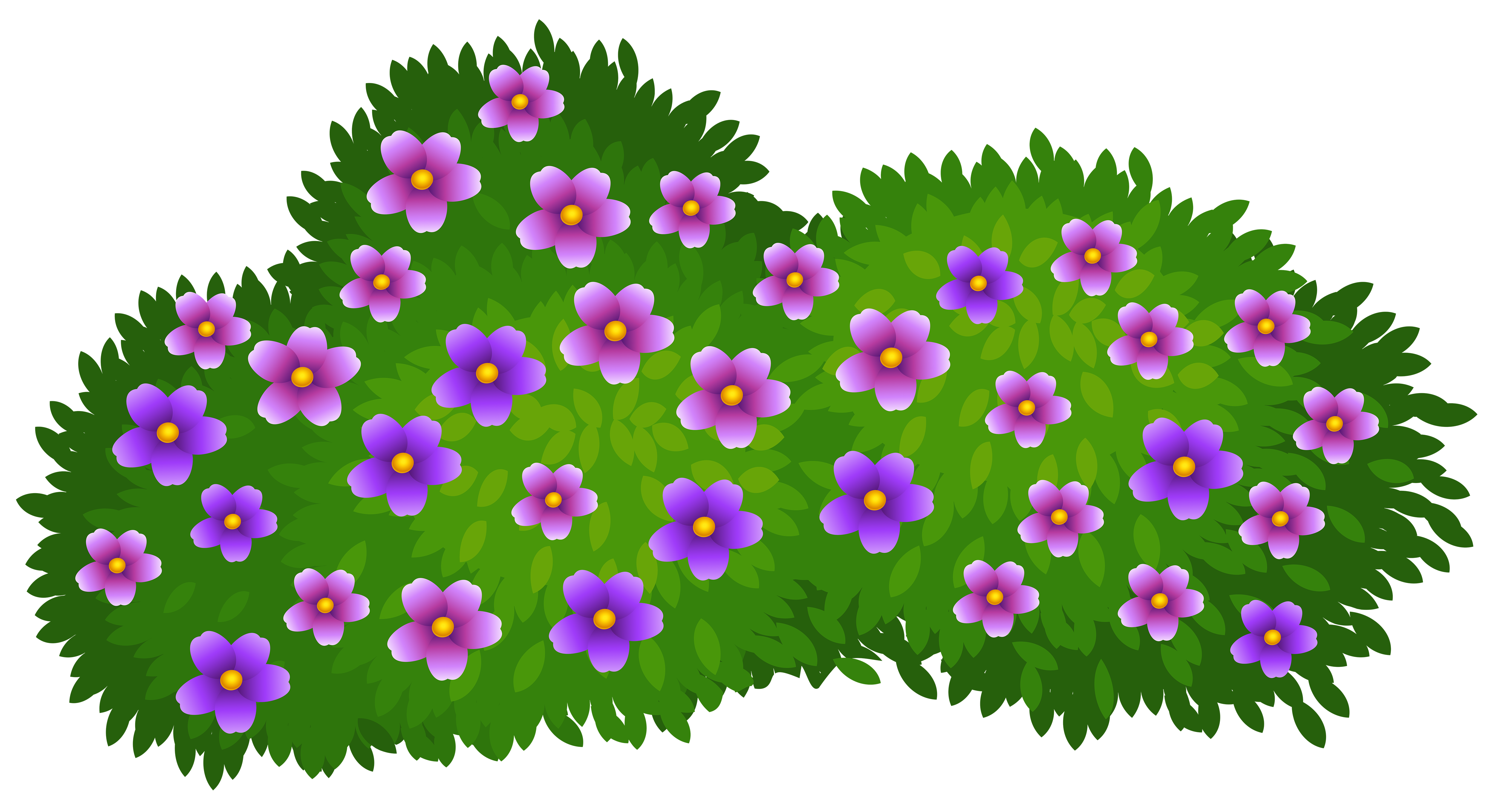 Flower Bushes Clipart.