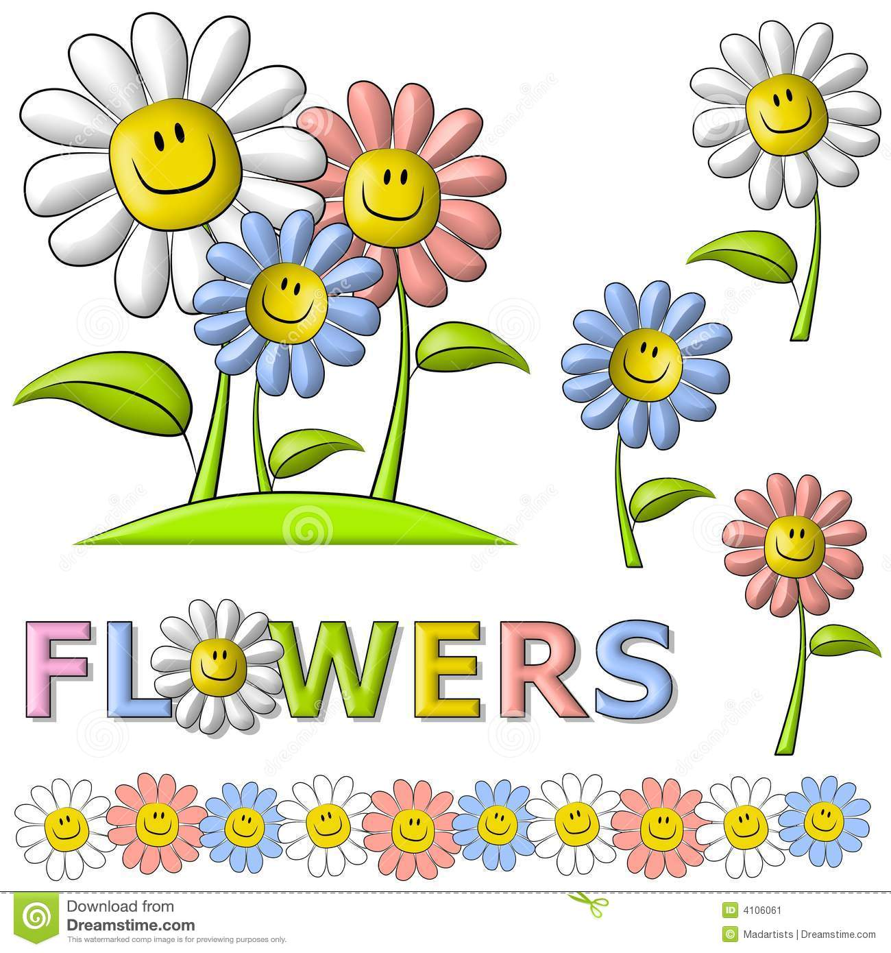 Smiley Spring Time Clipart.