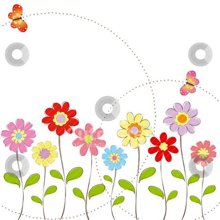 Springtime Flowers Clipart.
