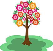 Flowering Tree Clip Art.