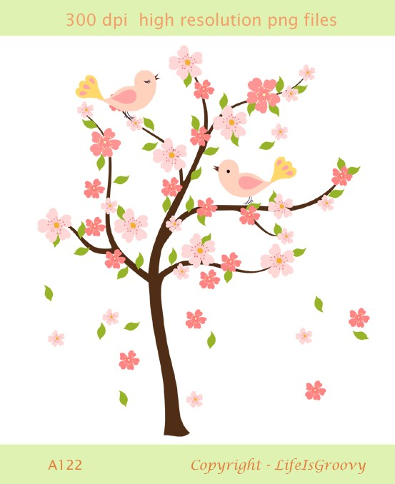 Flowering Tree Clipart.