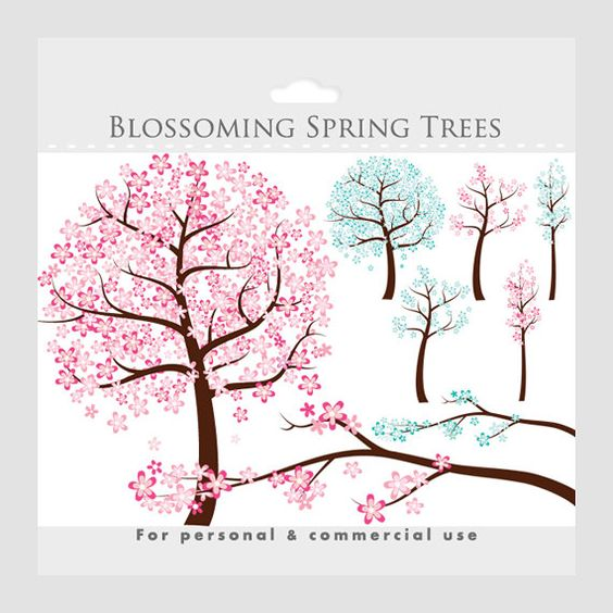 Flowers tree clipart.