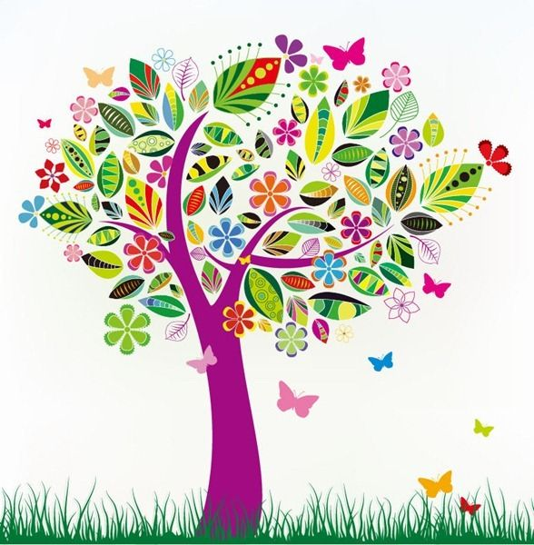 Tree And Flower Clipart.