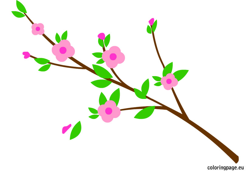 Branch with flowers.
