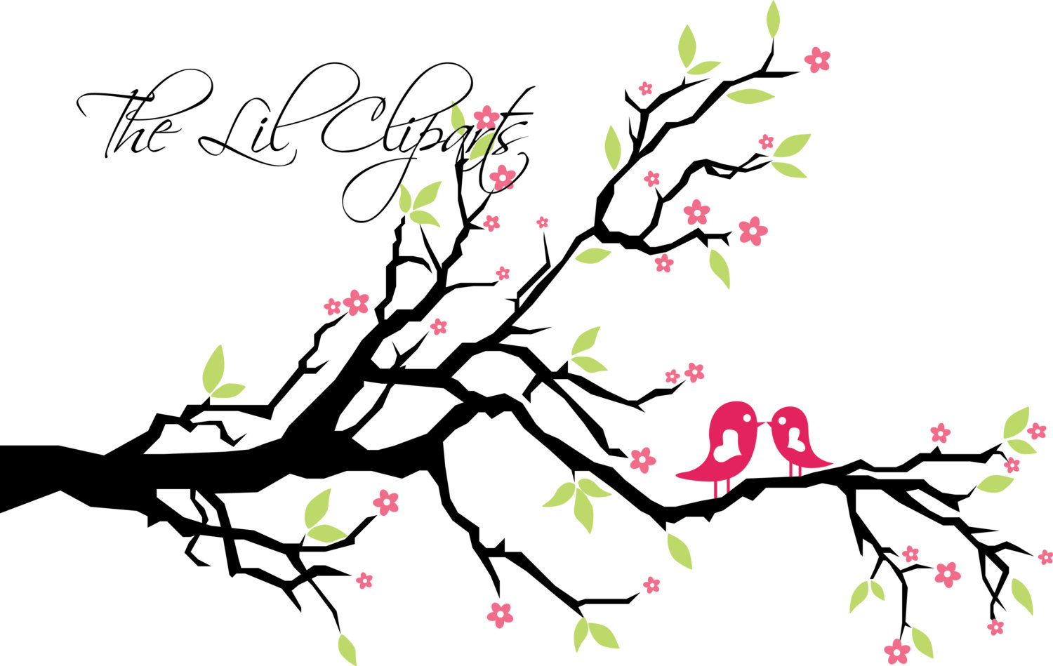 Floral Clipart Flower Clipart Tree Clipart by TheLilCliparts.
